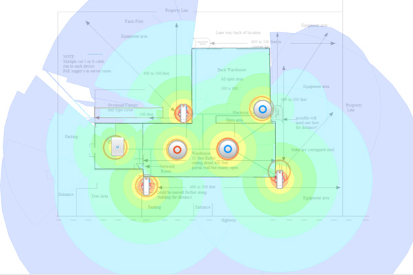 WiFi coverage map
